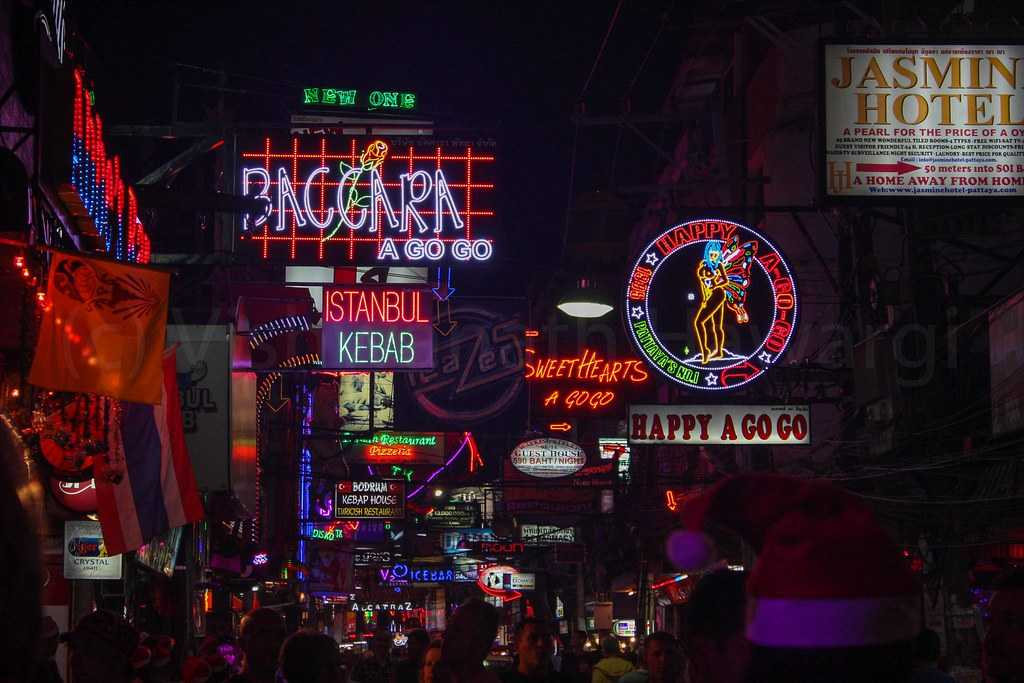 Walking Street at Pattaya Beach