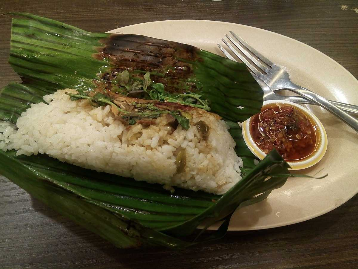 Nasi Bakar local dishes