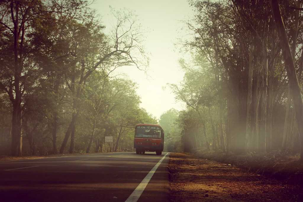 Bus trip to Coorg