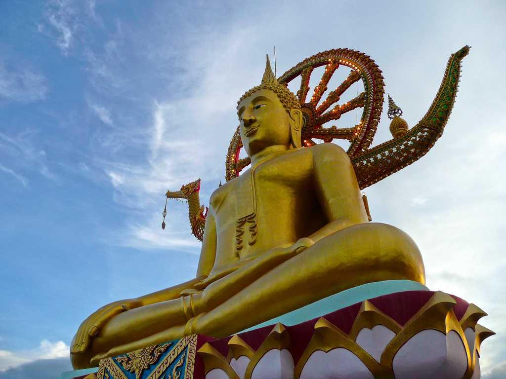 Big Buddha Statue at Wat Phra Yai Koh Samui