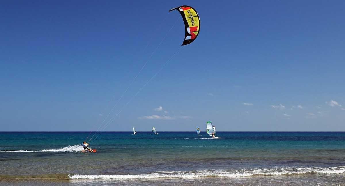 Kite surfing, Mauritius in June