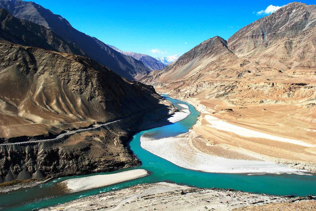 Confluence of Indus River