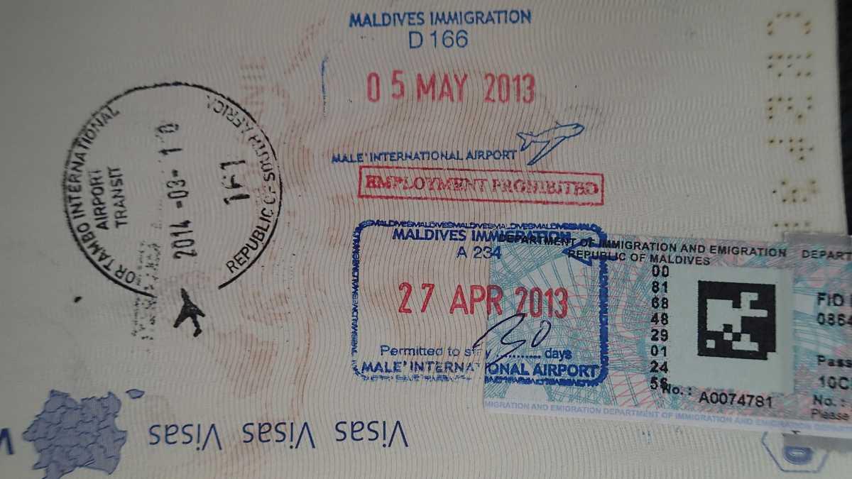 Maldives Visa For Indians 2020 Documentation Visa Fee