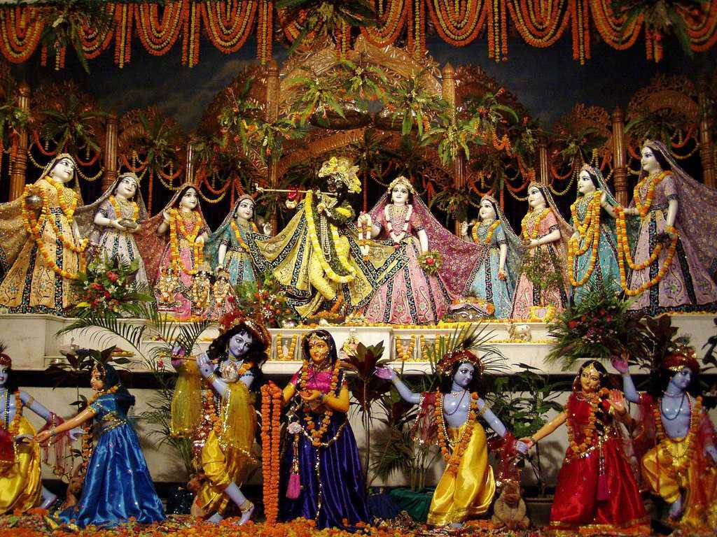 Celebration of Janmashtami, Mayapur