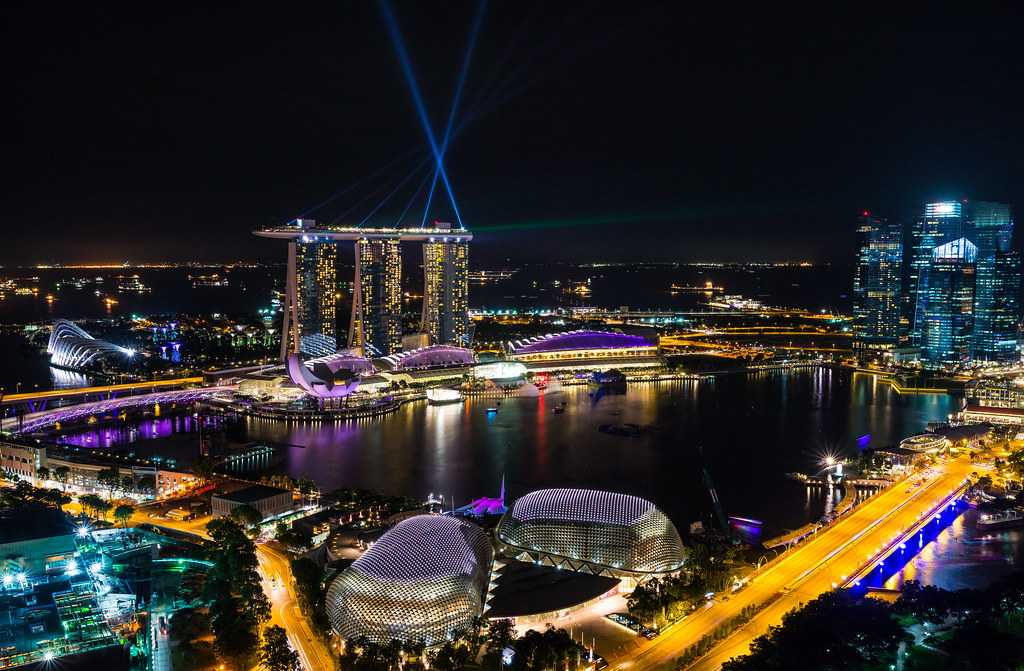 View from Propeller Rooftop Bar, New Year in Singapore