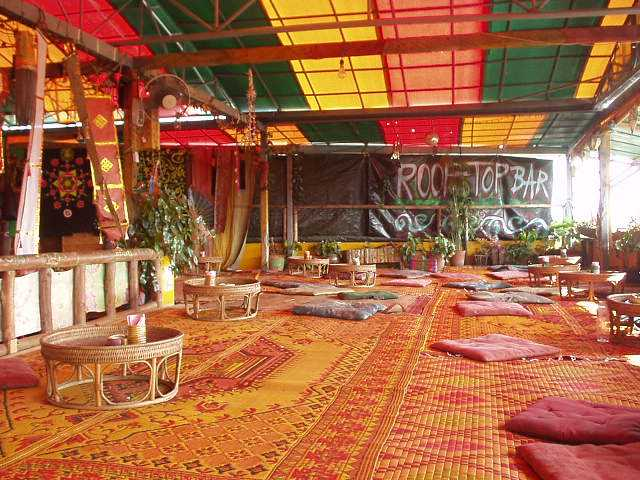 THC rooftop bar in chiang mai Thailand