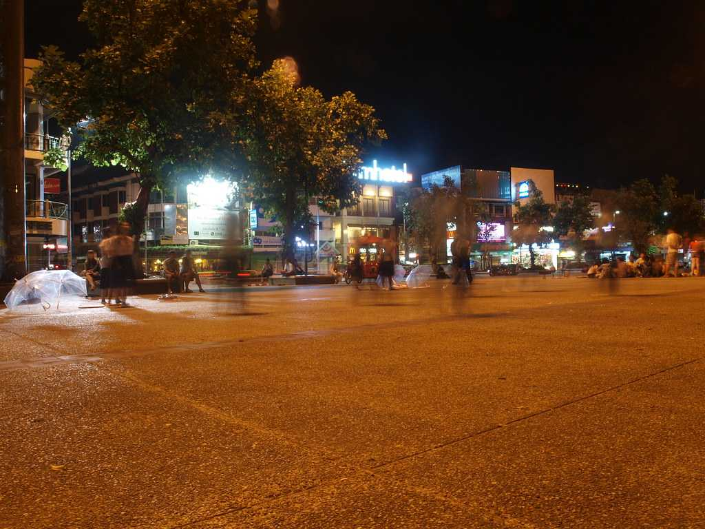 Shops and Restaurants at Tha Phae Gate Square, Chiang Mai