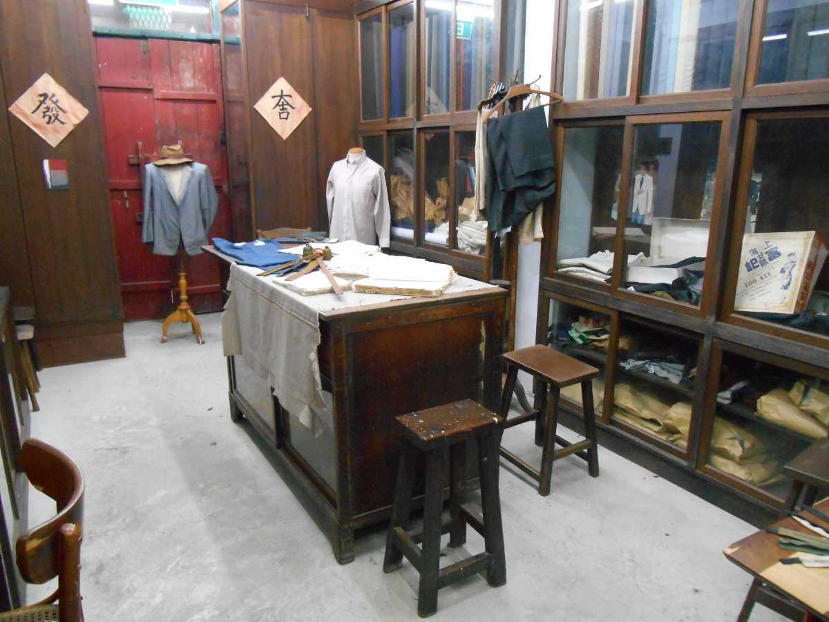 A tailorshop at Chinatown Heritage Centre Singapore