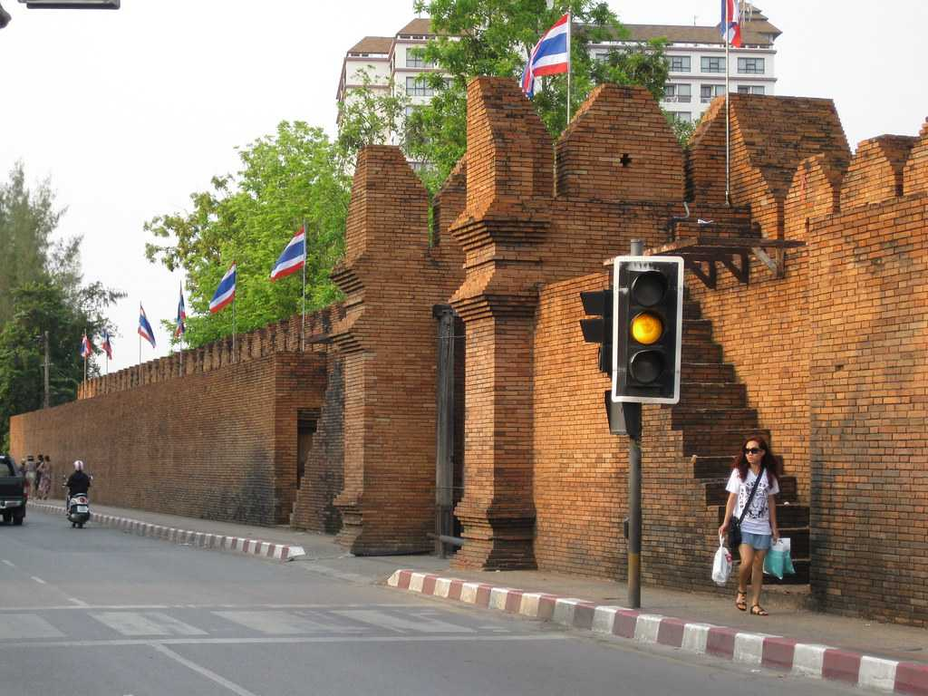 Old City Walls of Tha Phae Gate Square, Chiang Mai