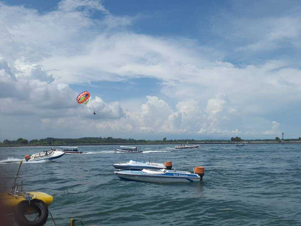 The stunning scenic view from speed boat at Tanjung Benoa beach!