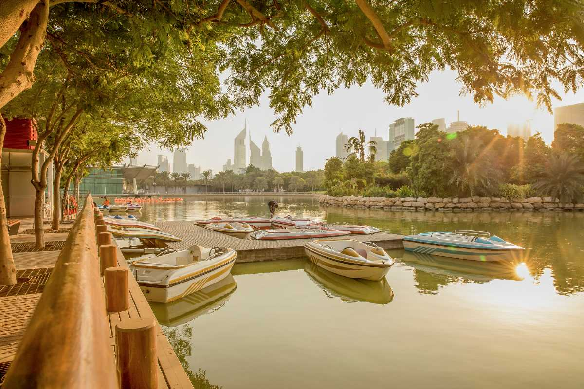 Boating at Zabeel Park