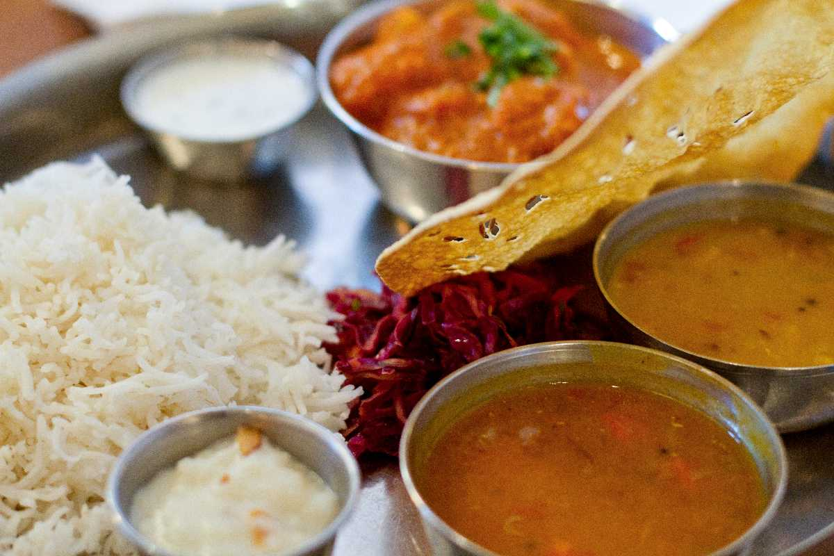 Veg Thali, Street Food of Mumbai