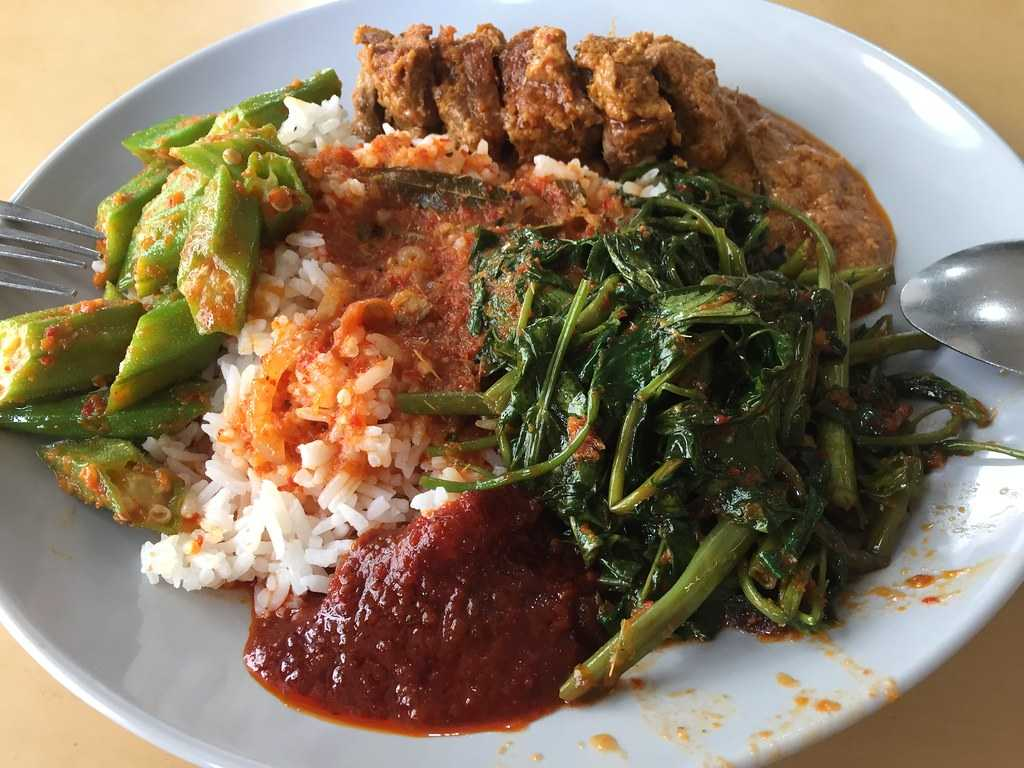 Nasi Pedang, Dishes of Singapore