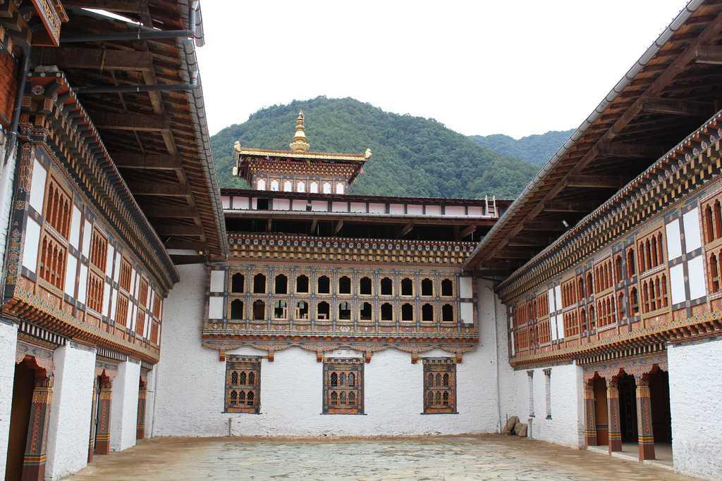 Interiors of the Lhuentse Dzong Bhutan