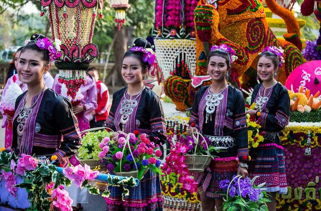 Chiang Mai Flower Festival in February