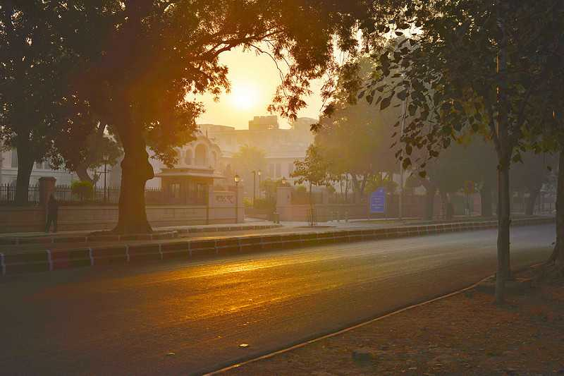 Winter morning in Delhi