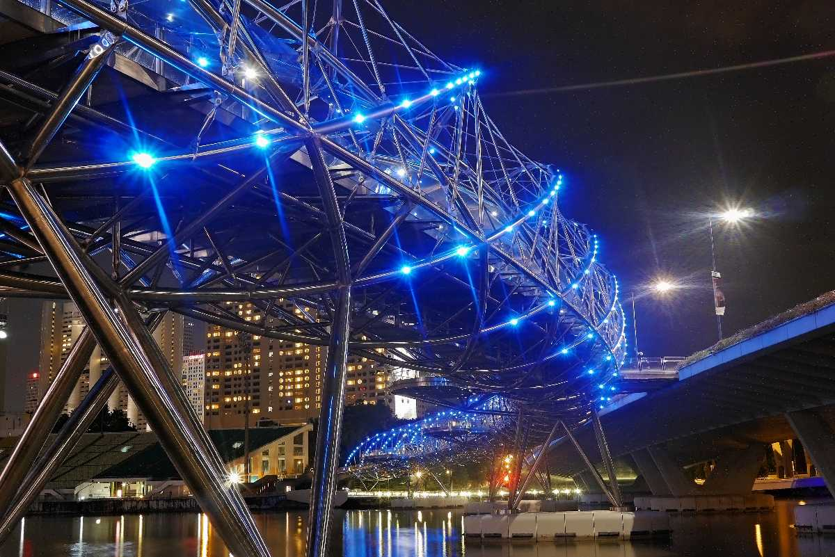 Helix Bridge, Architecture of Singapore