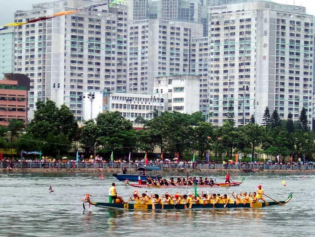 Dragon Boat Race during Hong Kong Dragon Boat Festival