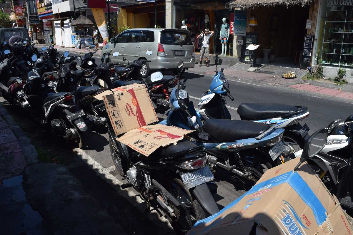 Renting a bike in Bali