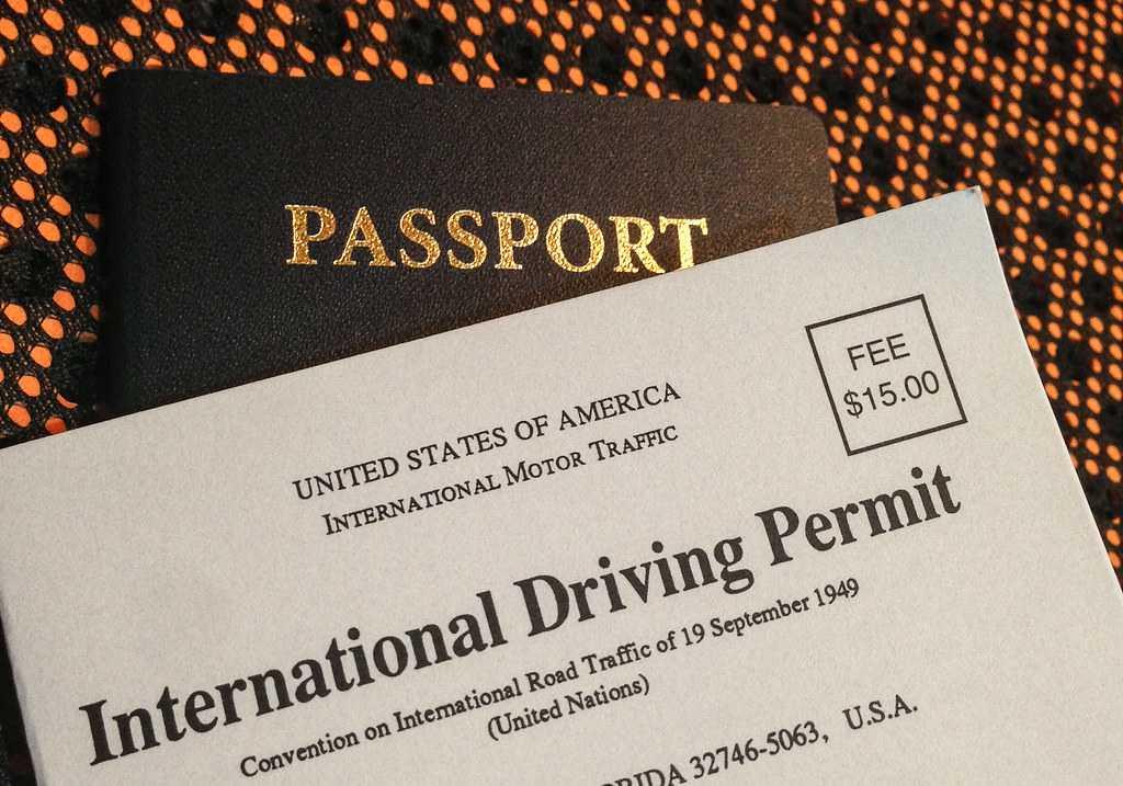 International Driving Permit and Passport