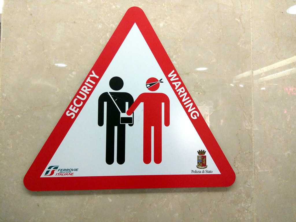 Pickpocket sign