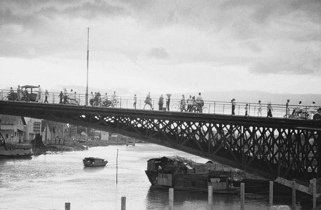 Saignon bridge in 1955