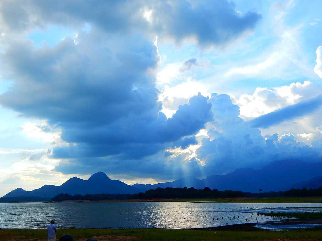 Malampuzha, Monsoon evening