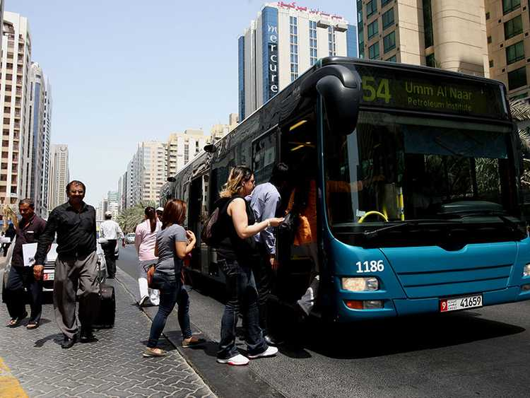 how to go to al ain from dubai by bus