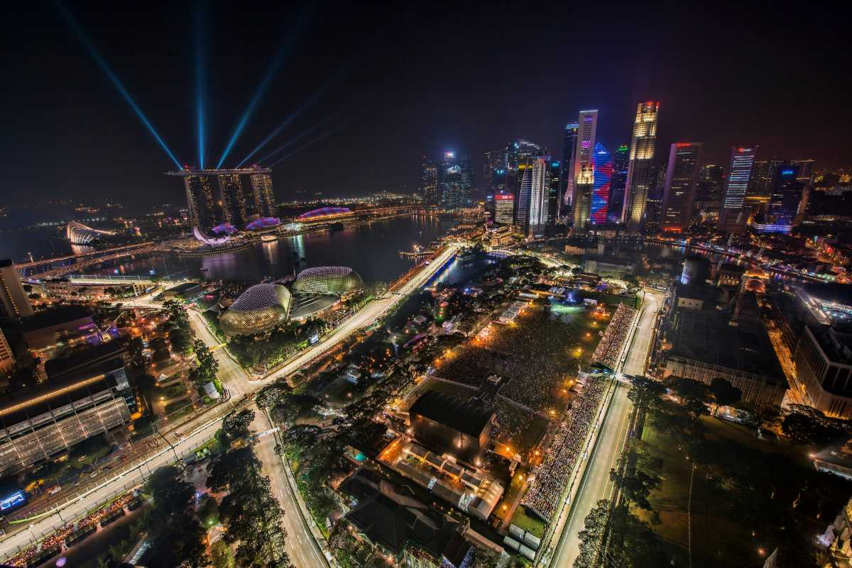Grand Prix Singapore skyline view