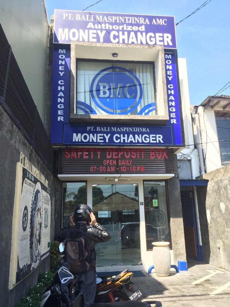 Currency Exchange in Bali, PT Bali Maspintjinra