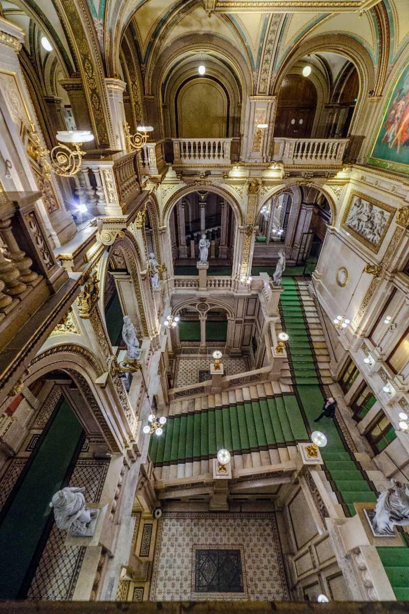 The Grand Staircase at Vienna State Opera, Vienna