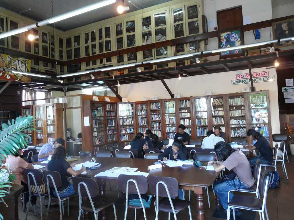 Students at the Carnegie Library