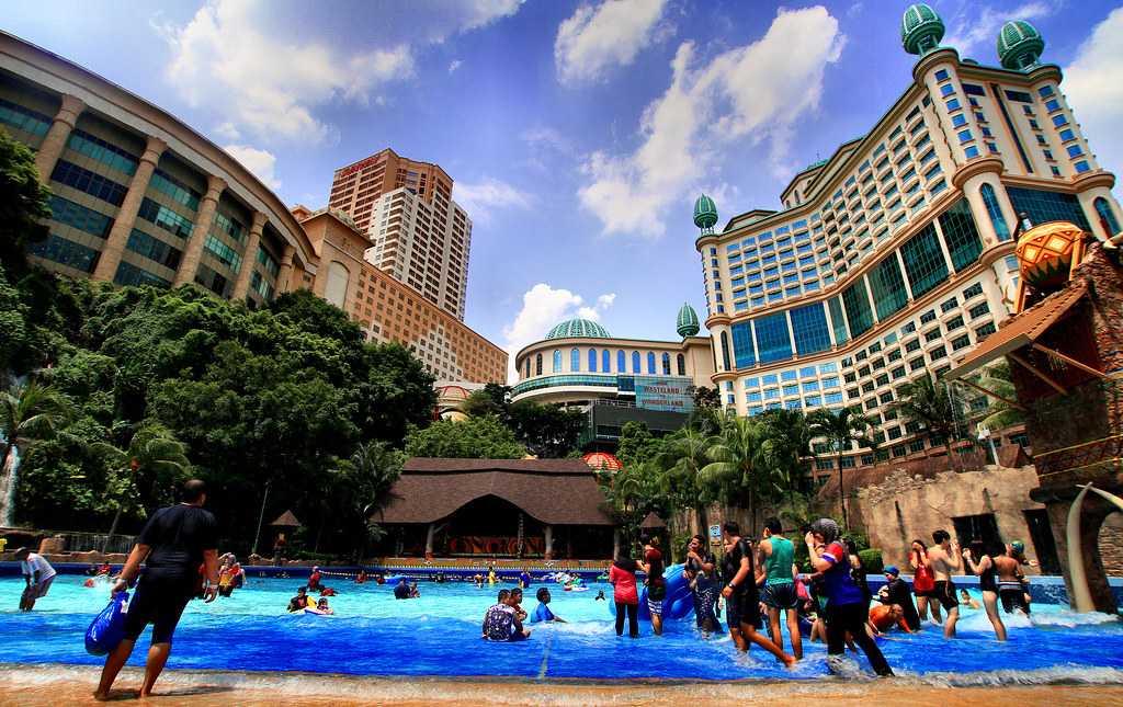 The Sunway Lagoon Theme Park in Kuala Lumpur