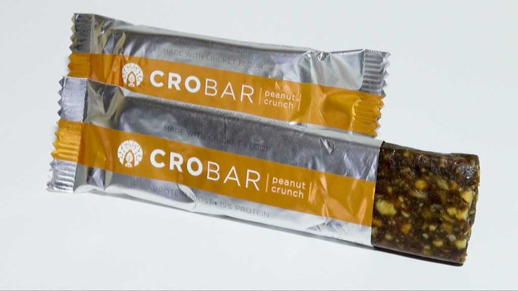 Protein bar makes a great snack during snow trek