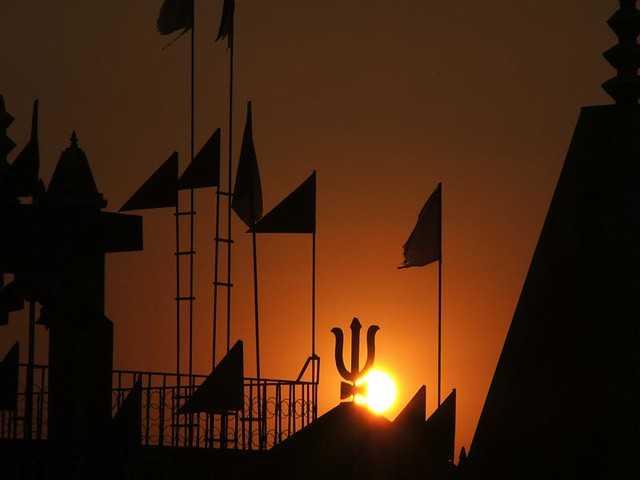 Sunset in Rishikesh
