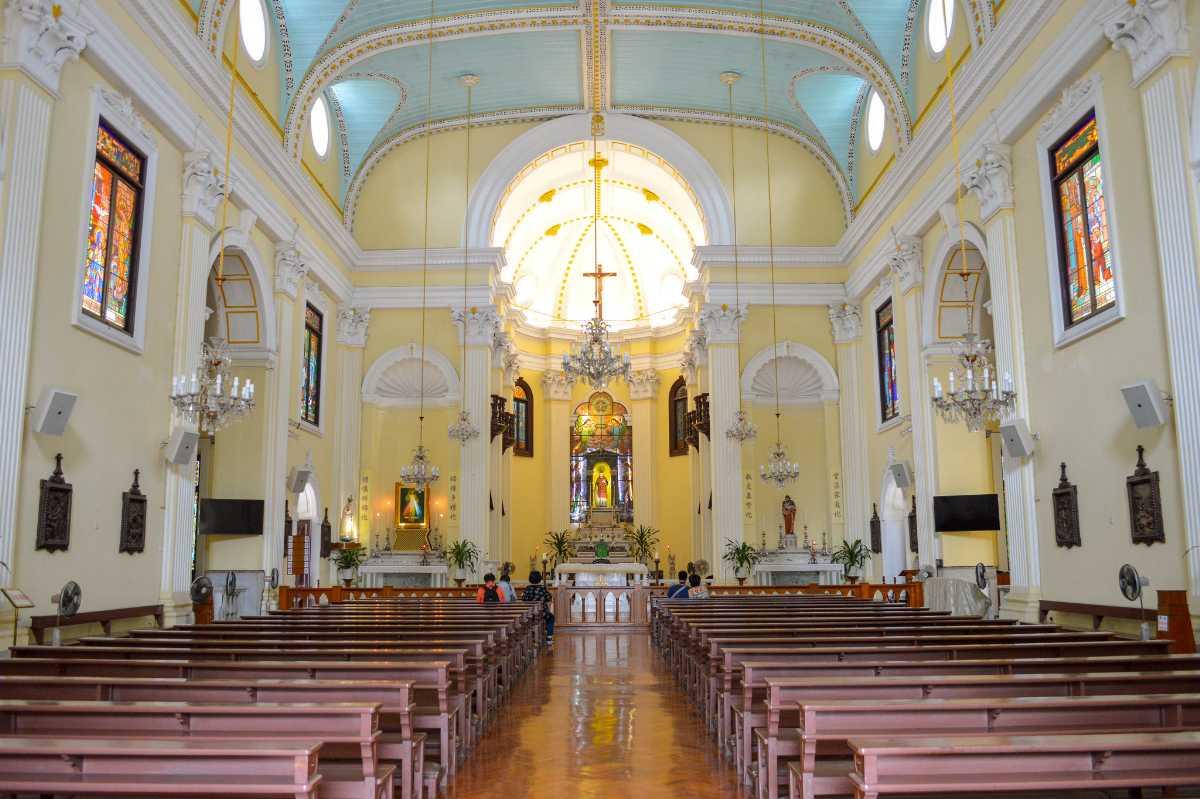 Interior of St Lawrence Church Macau