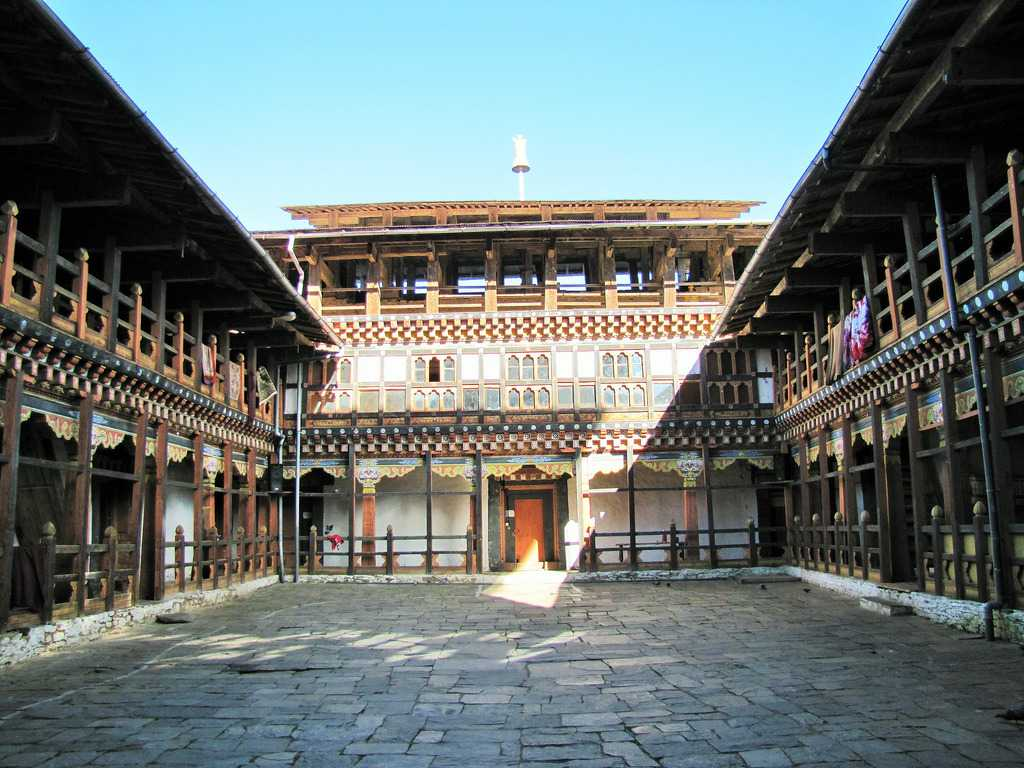 Interiors of the Jakar Dzong Bhutan