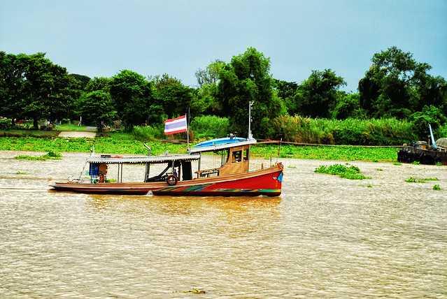 Towboat in Chao Phraya River