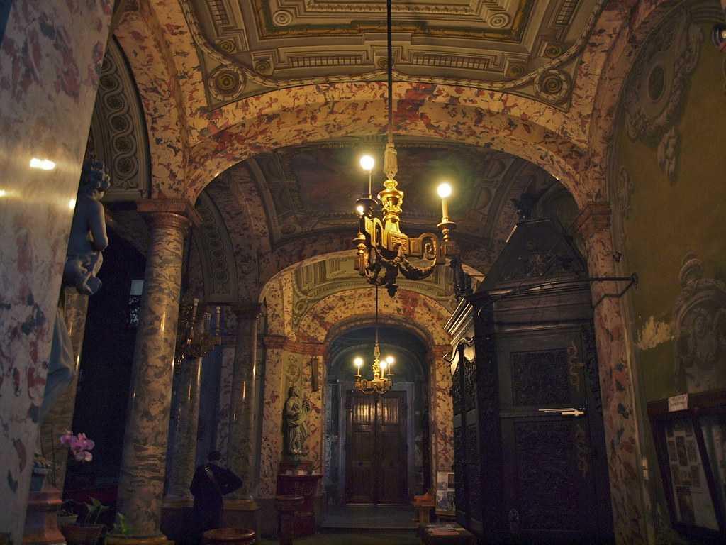 Interior of University Church, Budapest