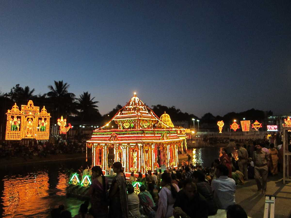 Teppotsavam at Pushkarini