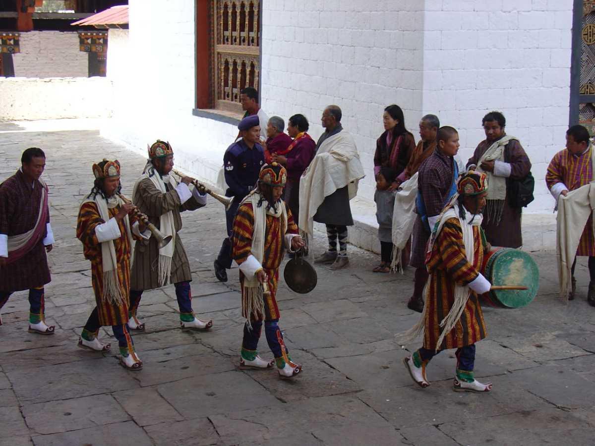 Musicians at the Punakha Festival