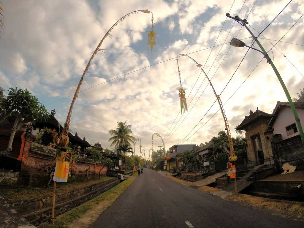 Decorations for Galungan in Bali, Indonesia