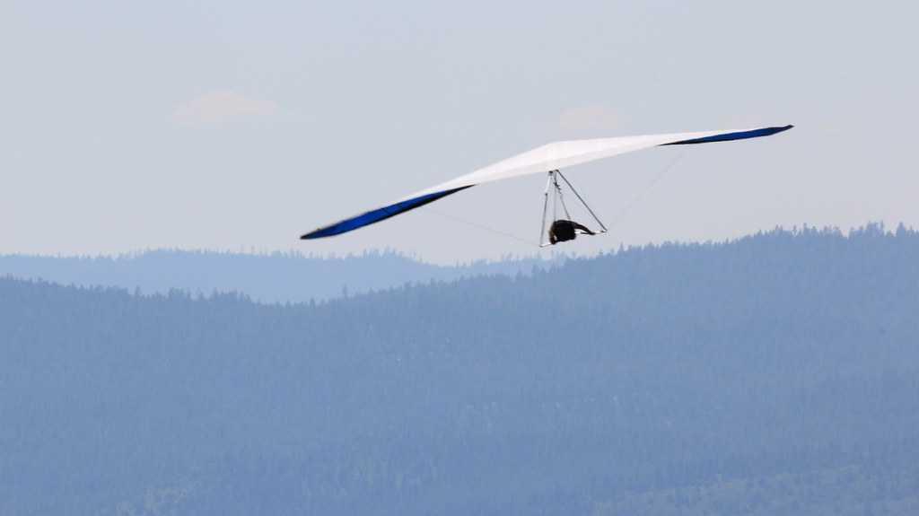 Hang-gliding in Devlali, Maharashtra