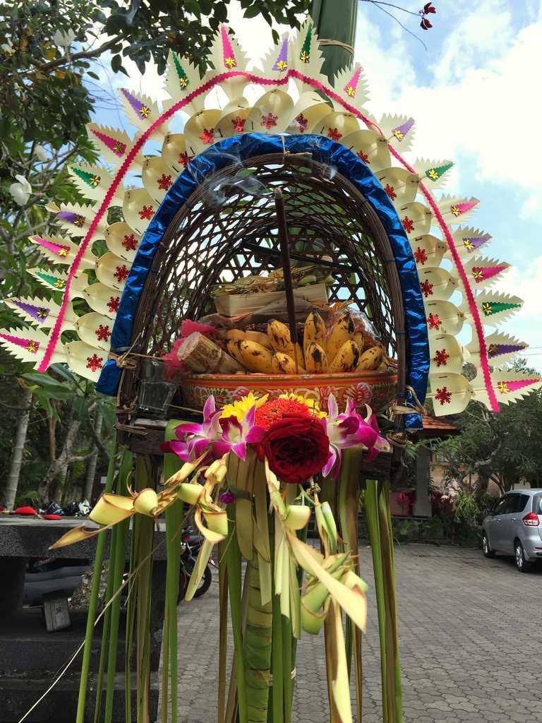 Galungan decorations in Bali