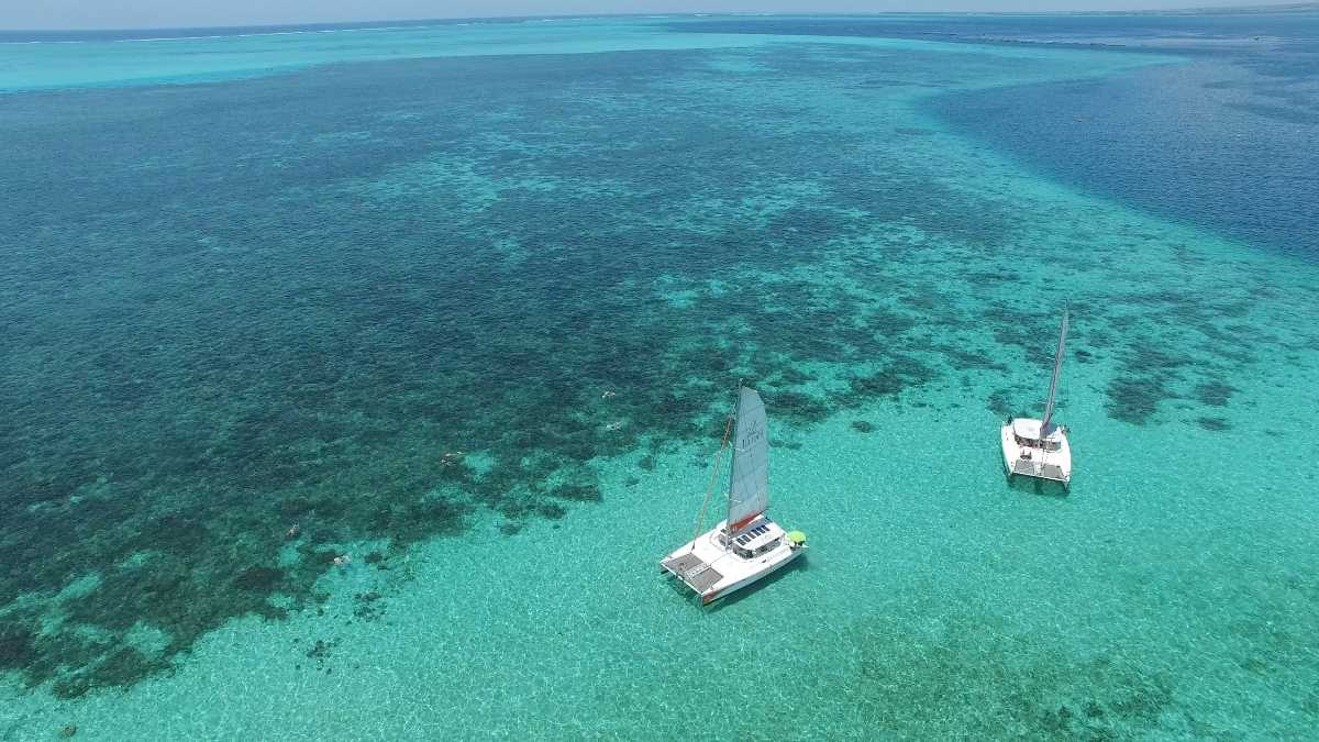 Catamaran Cruise in Mauritius, Ilot Gabriel Beach