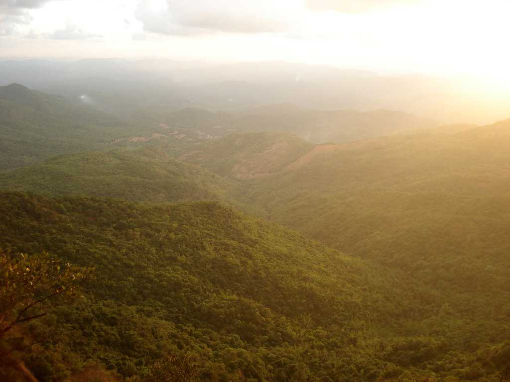 Amboli, sunset on a summer evening