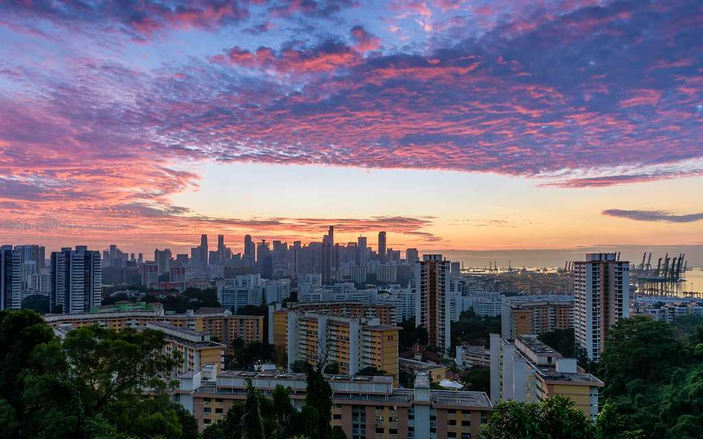 Sunrise at Mount Faber Park