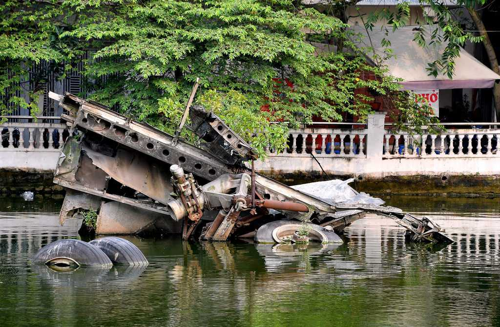 Huu Tiep Lake and the Downed B52, Hanoi, Vietnam