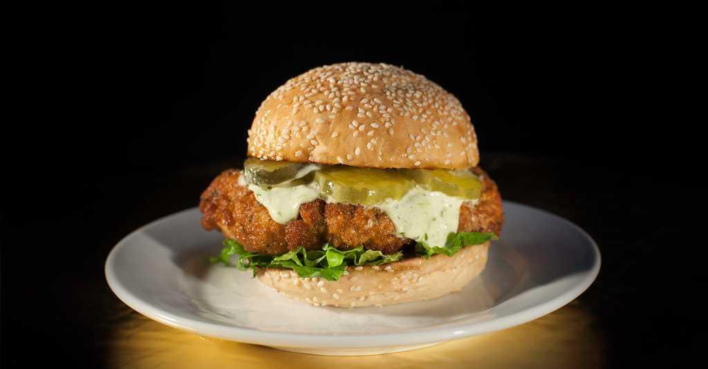 The yummy Chicken Burger