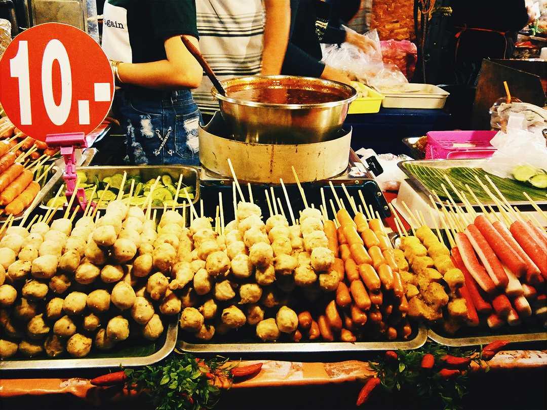 Train Night Market Ratchada Food